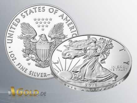 American Eagle 1 oz - 2016 Proof 30th Anniversary Silbermünze