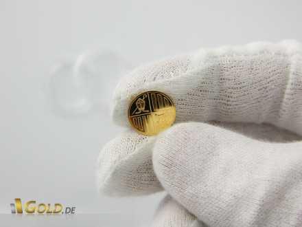 1 Gramm Goldmünze - Wappen des Zwergstaates Andorra