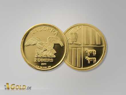 Andorra Eagle Gold, 1 g (1 Gramm 999er Goldmünze)