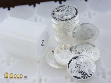 Tube Arche Noah Silbermünzen