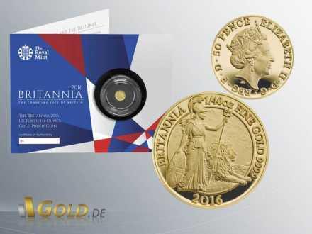 Britannia 2016 1/40 oz Goldmünze