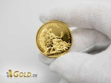 Goldmünze Britannia, 1 Unze, Beschriftung: One Ounce Fine Gold