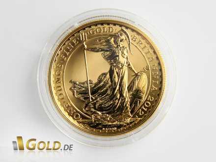 Britannia Gold, 1 Unze, von 2012