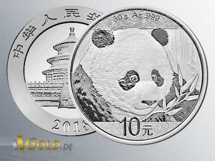 China Panda 2018 Silber 30 g
