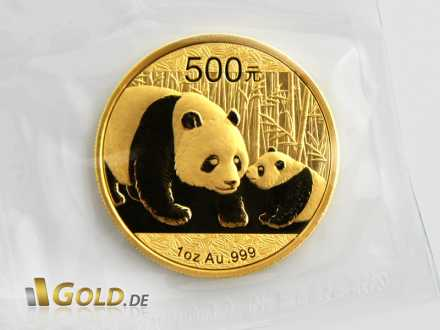 Goldener China Panda 2011, 500 Yuan