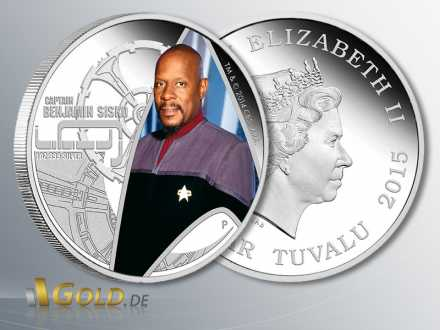 Deep Space Nine - Captain Benjamin Sisko, 1 oz Silber