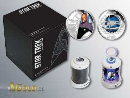 Deep Space Nine, Raumstation und Captain Sisko, 2 Coin Set mit Silbermünzen 2 x 1 oz