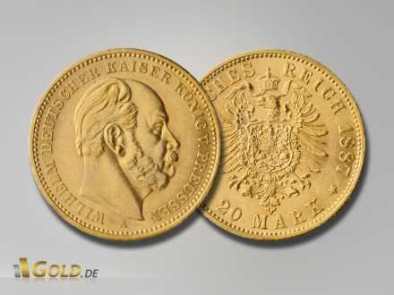 Deutsches Kaiserreich Goldmünze Wilhelm I.