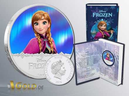 Disney Frozen - Magic of the Northern Lights Princessin Anna 1 oz Silbermünze Proof