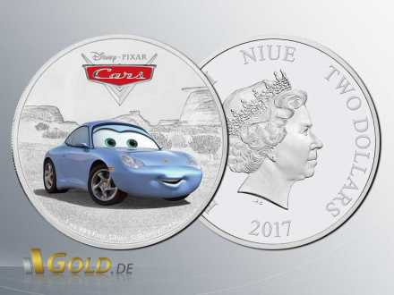 Disney Pixar Cars - Sally Carrera 1 oz Silbermünze