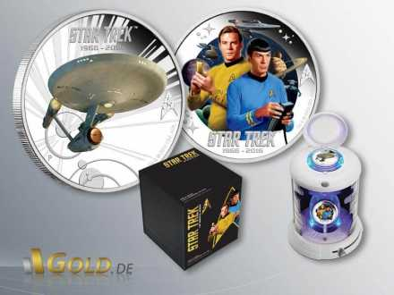 Star Trek 2016 Perth Mint Enterprise, Kirk und Spock 2-Silbermünzen-Set Proof