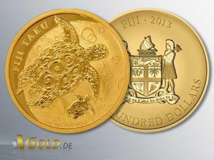 Fiji Taku Schildkröte Gold, 1 oz, 2013