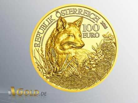 Wildtiere Österreich in Gold 2017: Der Fuchs (Motivseite)
