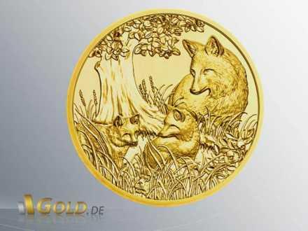 Wildtiere Österreich in Gold 2017: Der Fuchs (Wertseite)