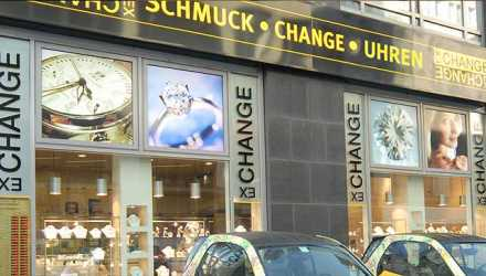 Gold-Exchange Schaufenster