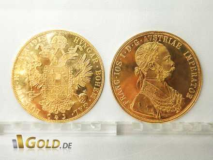Gold-Dukaten aus Österreich, 4-fach