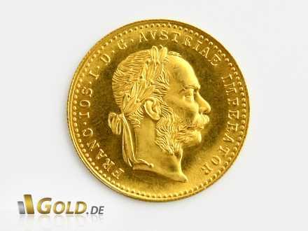 Golddukaten mit Motiv Kaiser Franz Joseph I.