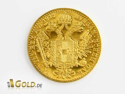 Wappen-Seite des Gold-Dukaten