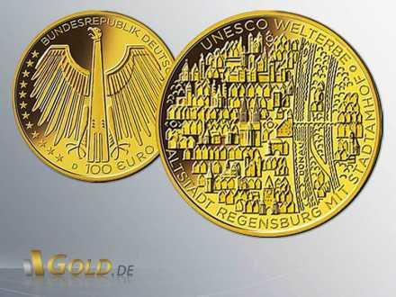 Gold-Euro 2016: Regensburg mit Stadtamhof 1/2 oz Gold