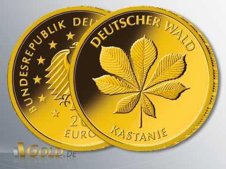 Gold-Euro Deutscher Wald, Motiv Kastanie 2014