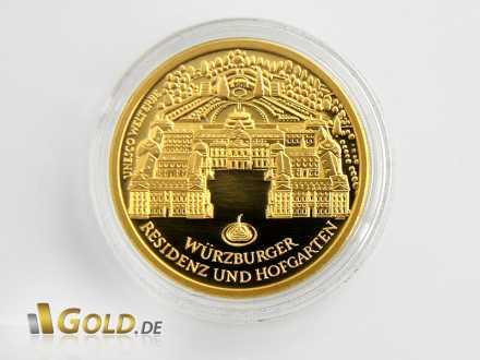 Motiv des Goldeuro 2010: Würzburger Residenz und Hofgarten