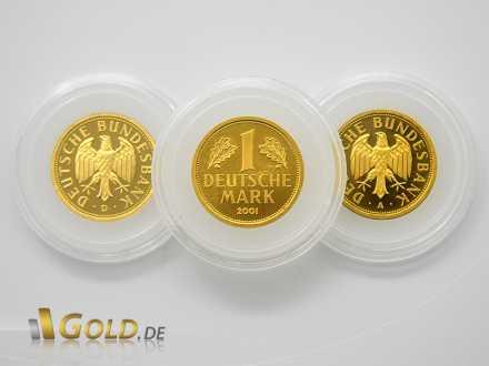 Goldmark mit Prägestätten D und A