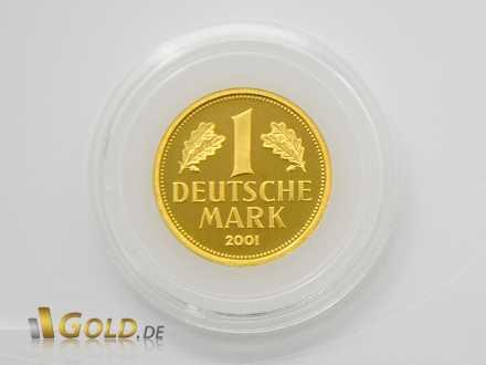 Wertseite der Goldmark mit Jahreszahl 2001