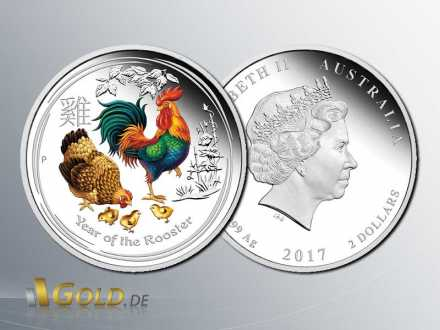 Lunar II Hahn 2017 ANDA Money Expo Special – Year of the Rooster 2 oz Silver PP