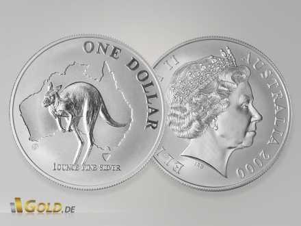 Silber Känguru - Kangaroo - Nugget, 1 Unze