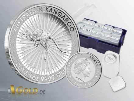 Australian Kangaroo Perth Mint Silber 1 oz 2017 Bullion