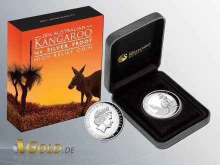 Kangaroo 2016 High Relief 1 oz Shipper