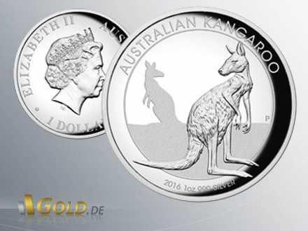 Kangaroo 2016 High Relief 1 oz Silbermünze