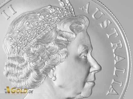 Känguru Avers: Queen Elisabeth II. von Großbritannien