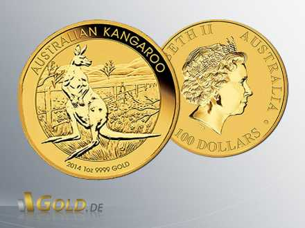 Nugget Känguru Gold 2014 1oz
