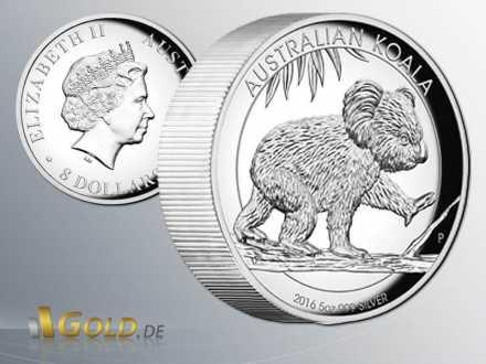 Koala 2016 High Relief 5 oz Silbermünze