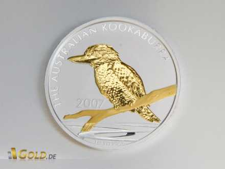 Kookaburra mit Gold-Applikation (gilded/vergoldet)