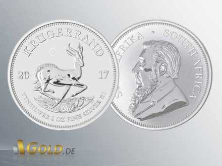 Krügerrand Silber 2017 Privy Mark 50th Annivesery 1 oz - 1 Rand