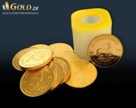 Krügerrand Goldmünzen Tube