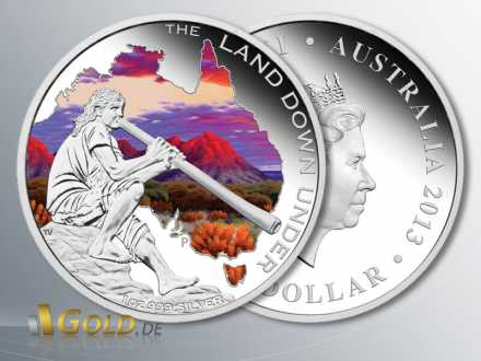 The Land Down Under 2013, Didgeridoo, 1 oz Silber