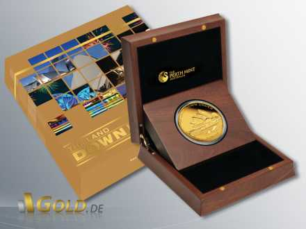 The Land Down Under, Sydney Opera House, Special Edition 2 oz Goldmünze in Schatulle