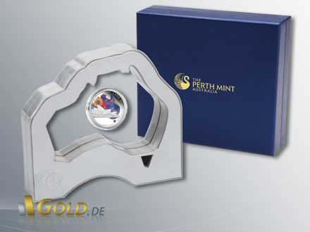 The Land Down Under, Sydney Opera House, 1 oz Silber in Präsentations-Verpackung