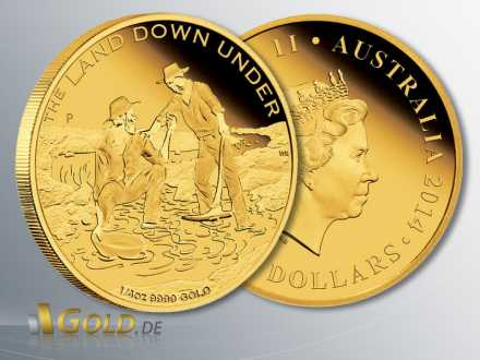 The Land Down Under, 1. Motiv 2014: Gold Rush, 1/4 oz Goldmünze