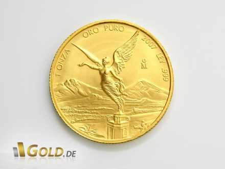 Libertad, 1 oz Gold von 2009 mit Siegesgöttin