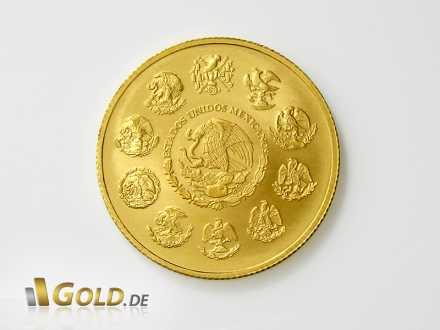 Libertad, 1 Unze Gold, Rückseite mit Adler-Wappen