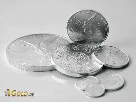 Libertad Silbermünzen in verschiedenen Einheiten