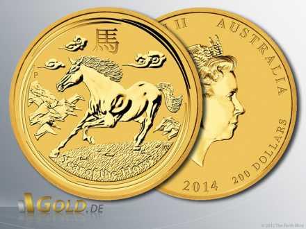 Lunar 2 Pferd 2014 in Gold