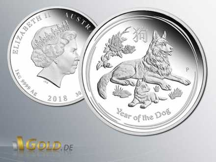 Hund 2018 - Year of the Dog - Lunar Serie II Silber Proof
