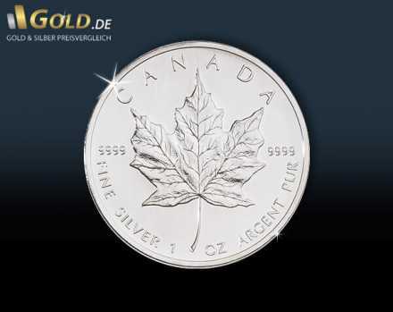 Maple Leaf Silbermünze