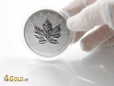 Sonderprägung 10 Unzen Maple Leaf