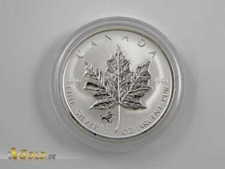 Maple Leaf mit Privy Mark Lunar Horse